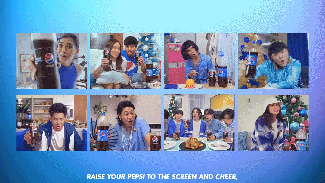 Raise a Pepsi to the screen and say Cheers! Sama ka na sa virtual potluck ng Pepsi Fam here:  #PepsiLovesChristmas