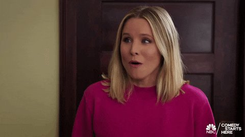 Kristen Bell Omg GIF by The Good Place