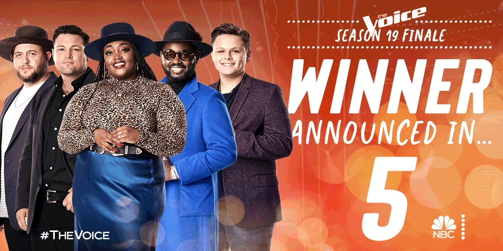 🚨 SPOILER ALERT 🚨   And the winner of #TheVoice is...