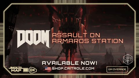 Unleash a horde of demons at your gaming table with DOOM Eternal: Assault on Armaros Station inspired by the hell-raising FPS @DOOM Eternal. Available for purchase and download NOW in our US shop!  🔥