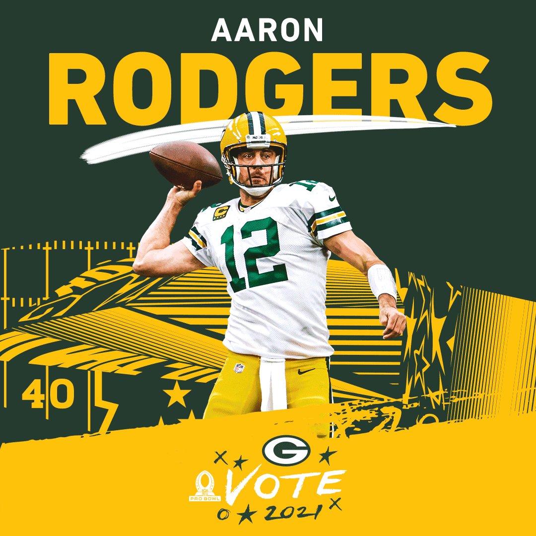 🚨 Every RT now = 2️⃣ VOTES! 🚨  #ProBowlVote for the #Packers offense!   @AaronRodgers12  @Showtyme_33  @jswaggdaddy  @tae15adams  @MVS__11 @AllenLazard @RobTonJr @MarcedesLewis89 @DavidBakhtiari @Big_Mountain77 @Big_E_14 @lucaspatrick62 @Linsley71 #RickWagner  #GoPackGo