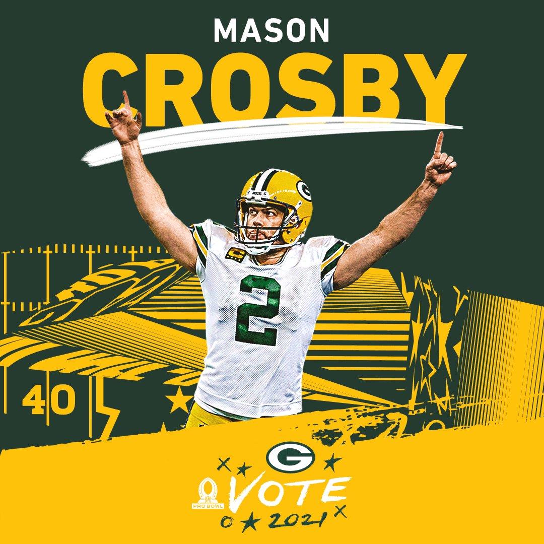 🚨 Every RT now = 2️⃣ VOTES! 🚨  #ProBowlVote for the #Packers special teams!   @crosbykicks2 #JKScott @HunterB_53 #TylerErvin @BangTimeBurks  #GoPackGo