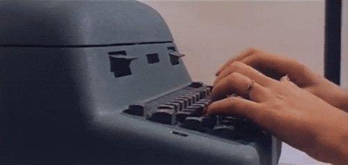 typing typewriter GIF