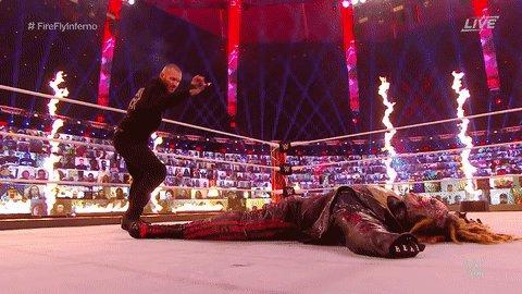 RT @WWE: What has @RandyOrton done? #WWETLC #FireflyInferno https://t.co/37Ur6ClyMV