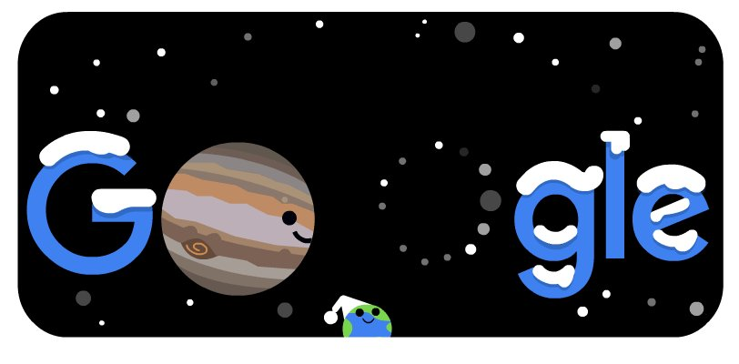 Look out at the night sky 👀 Seeing double? Don't worry, you're not alone!   For the 1st time in 800 yrs, Jupiter & Saturn will be so visibly close, they'll form a double planet! 🪐🔭  See this once-in-a-lifetime Great Conjunction with #GoogleDoodle →