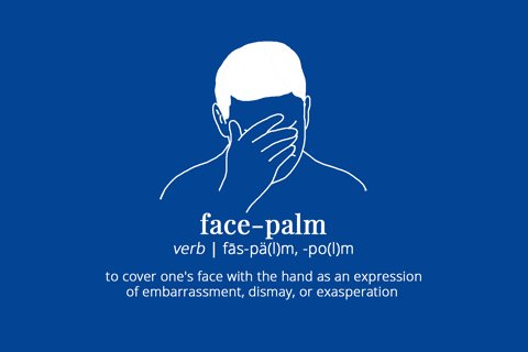face palm GIF by merriam-webster