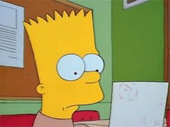 sad bart simpson GIF