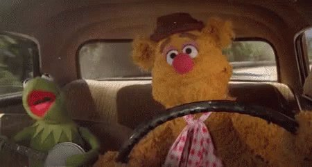 Muppets Driving Car GIF