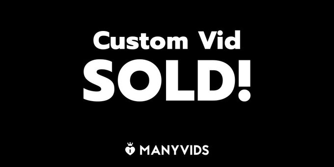 Just sold a custom vid and can't wait to film it! Want one too? https://t.co/IMOCviggNq #MVSales https://t