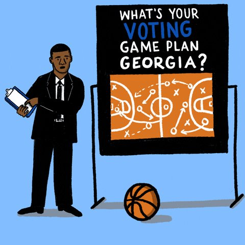GEORGIA VOTERS: Tomorrow is Election Day! Have you made your voting game plan? 🏀 Are you dropping off your ballot at a drop box in your county or your county elections office, or are you voting in person? Visit  to make your plan NOW. #gapol #gasen