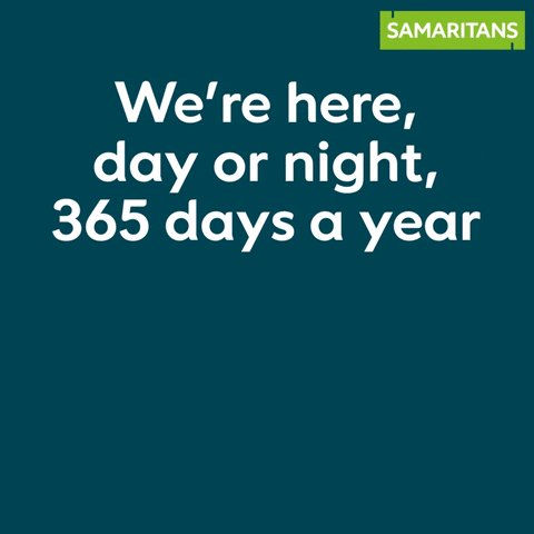 We are still open, no matter what. We're ready to listen if you're struggling in these tough times. If you're feeling like things are too much, please know that you don't have to be alone.   📱 116 123 📧 jo@samaritans.org