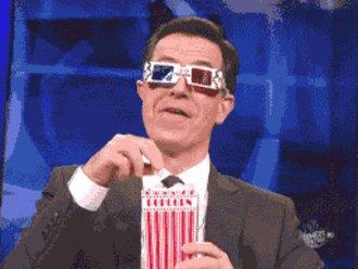 Stephen Colbert Popcorn Munching GIF