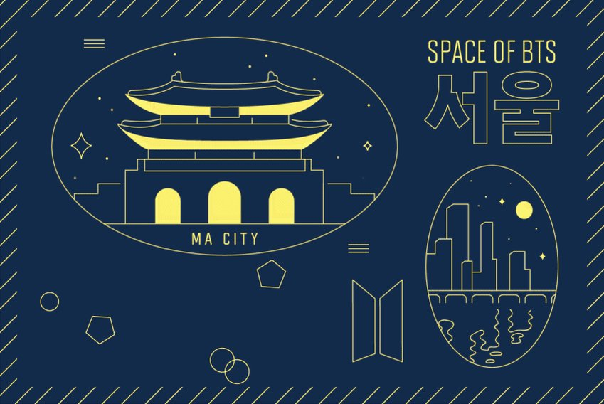 BTS POP-UP : SPACE OF BTS @lottedpt_kpopup에서만 만나볼 수 있는 특별한 시티 그래픽!   Welcome to Ma City, SEOUL!   #BTS_POPUP #SPACE_OF_BTS #서울