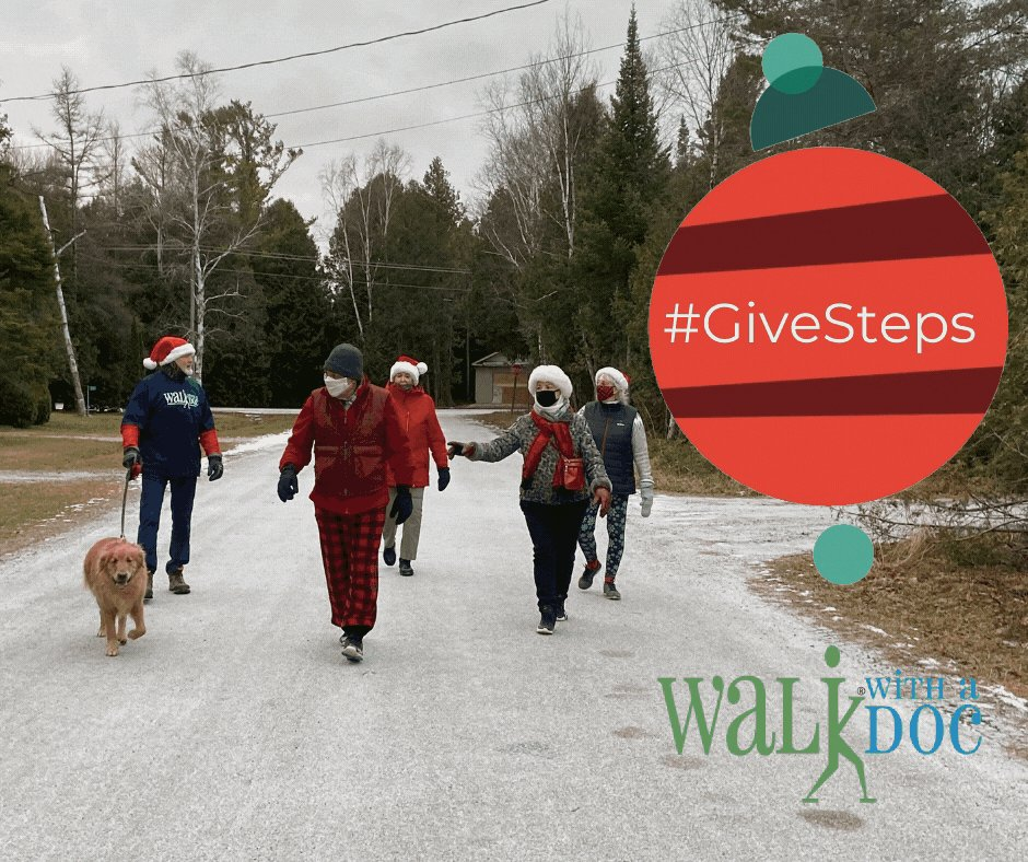 Wondering what gift you can give us this year? The only thing on our list is STEPS! That's right, we want you (and everyone you know) to give us steps. Take a walk and let us know about it! #GiveSteps