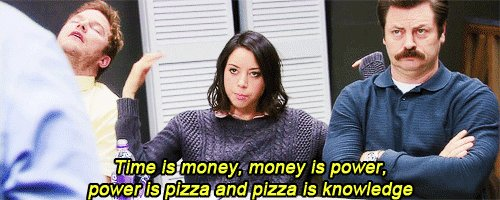 parks and recreation pizza GIF