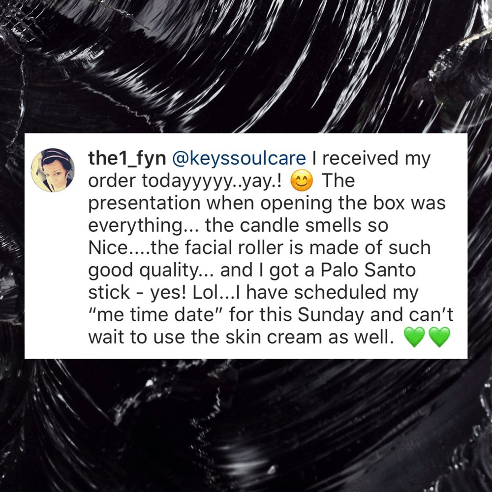 We love how you're transforming routine into ritual 😍 Continue sharing your personal skincare ceremonies with us using #KeysSoulcare so we can see the magic 🧡