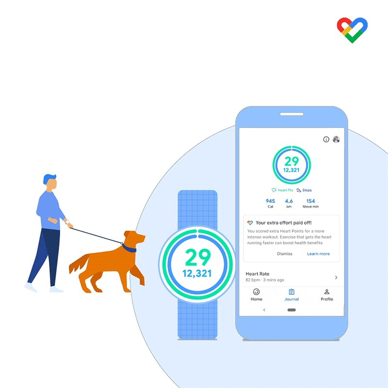 Tackle your 2021 health goals with the help of #GoogleFit. Designed with your heart health in mind, Heart Points help you stay on track. 💪 Don't skip a beat →