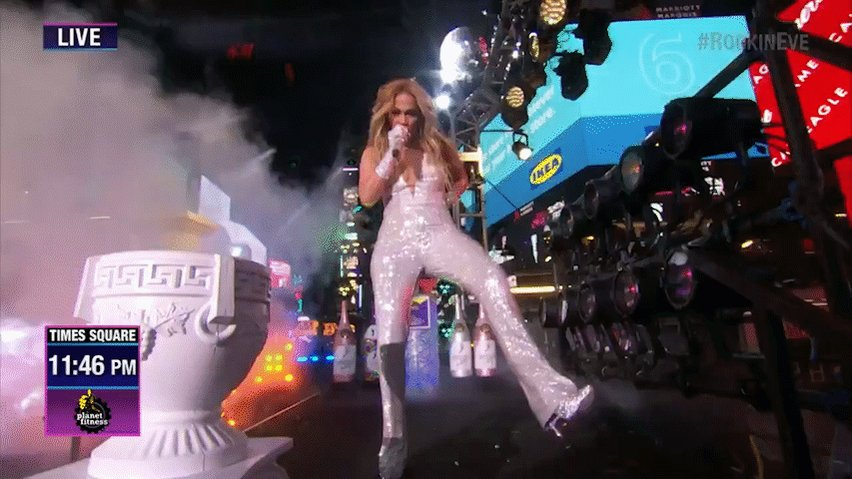 Walking into the New Year like... @JLo #RockinEve
