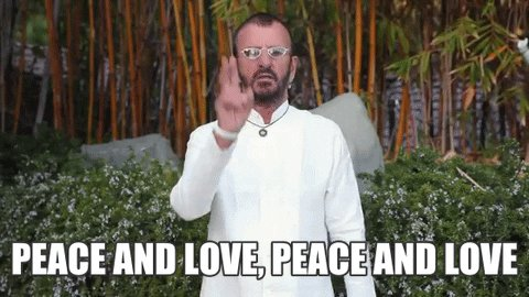 peace and love GIF