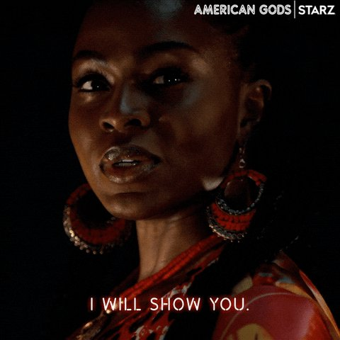 I'd follow Bilquis anywhere, especially if she leads me to a new episode of #AmericanGods! Watch now on the @STARZ App.