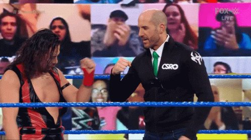 'DING DONG! Hello!': New talk segment w/ Bayley debuts. Cesaro vs Daniel Bryan, Nakamura vs. Jey Uso, and a big change to #RoyalRumble this week on the blue brand.  Full #Smackdown results here: