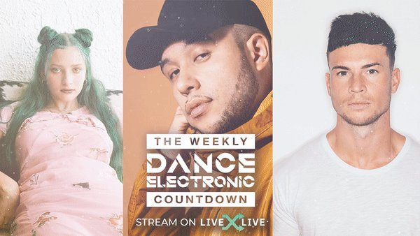 """Need a station to get your Saturday night started? 🎉 We've got you covered with the Weekly EDM / Dance Countdown featuring @heyitsau_ra & @JaxJones' """"i miss u (@JoelCorry Remix) and more ✨  Listen:"""