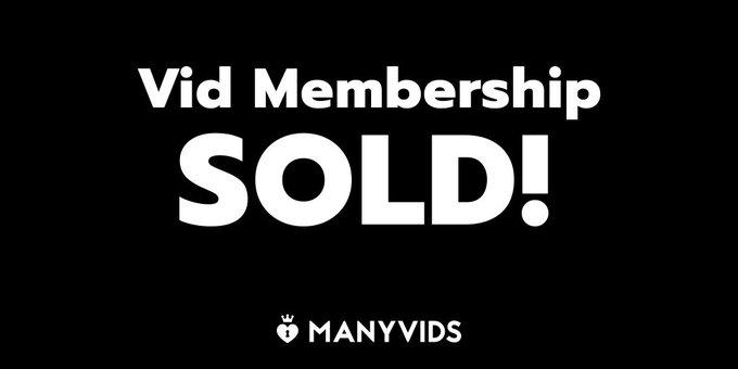 Vid Membership SOLD! I love new members! Join here! https://t.co/jHxp8NpyGJ #MVSales https://t.co/8Q