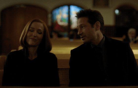 msr flirting in a house of worship #blessed  #txfNothingLastForever #davidduchovny  #gilliananderson
