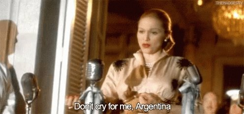 Madonna refusing to sing don't cry for me Argentina at trump send off fanfare when his battery is drained and his donkeys are looking for soap to no avail.  #SaturdayMorning