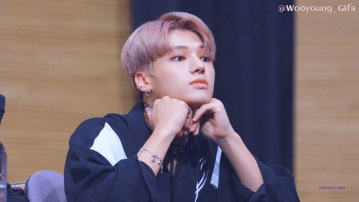 Dear Woo,what are you looking at? ____________________________________  #wooyoung  #우영  @ATEEZofficial  #ATEEZ