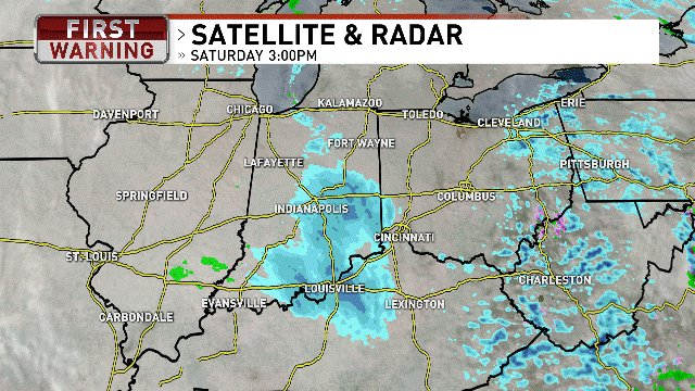 Band of snow kicking into Southern Ohio. Expect some light accumulation over the coming hours. #OhioWX