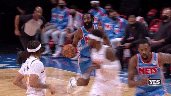 Replying to @YESNetwork: Point Harden has arrived 🔥  #NETSonYES