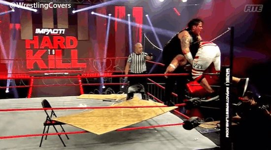 PILEDRIVER ON A BARBED WIRE BOARD!! 😵😱 @TheSamiCallihan   #HardToKill   #ImpactWrestling