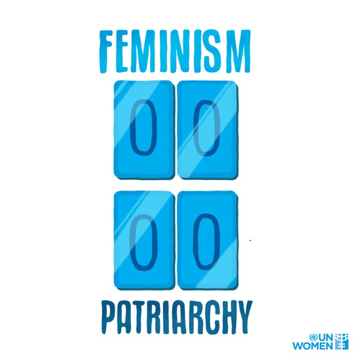Together, we can defeat the patriarchy.  RT if you've been scoring feminist goals!  #GenerationEquality
