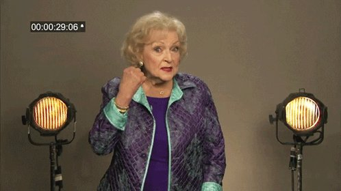 #HappyBirthdayBettyWhite May we all be this fierce at 99. 🤗♥😘
