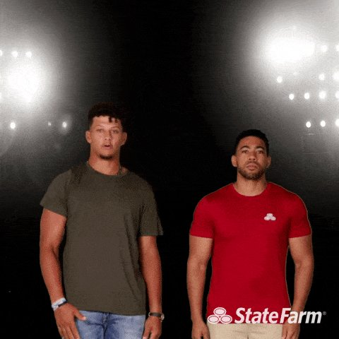 Best of luck today @PatrickMahomes! #TeamStateFarm