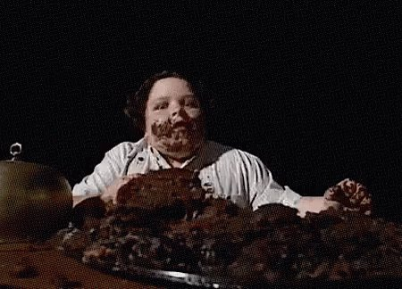 @beanybonce Our school chef baked a chocolate cake inspired by the one Bruce Bogtrotter eats in Matilda