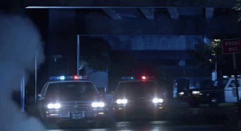 Police approach Trump's plane when it lands in Florida on January 20th. #TrumpSeriesFinale