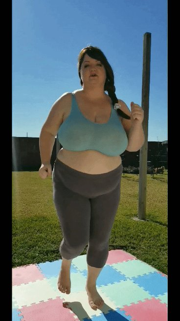 This whole video is free to view on my paid OF page! Lots of bouncing and stretching. Only 4.99 a month