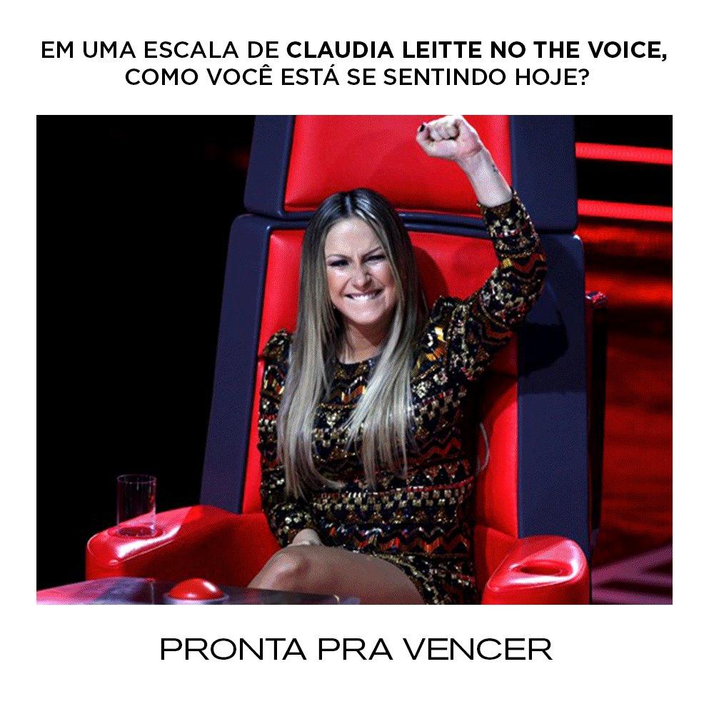 Em uma escala Claudia Leitte no @TheVoiceBrasil, como você está se sentindo hoje?  Lembrando que no próximo domingo, dia 17 de janeiro, estreia o The Voice+, com muita emoção e histórias incríveis provando que sonhos não envelhecem! | Time CL