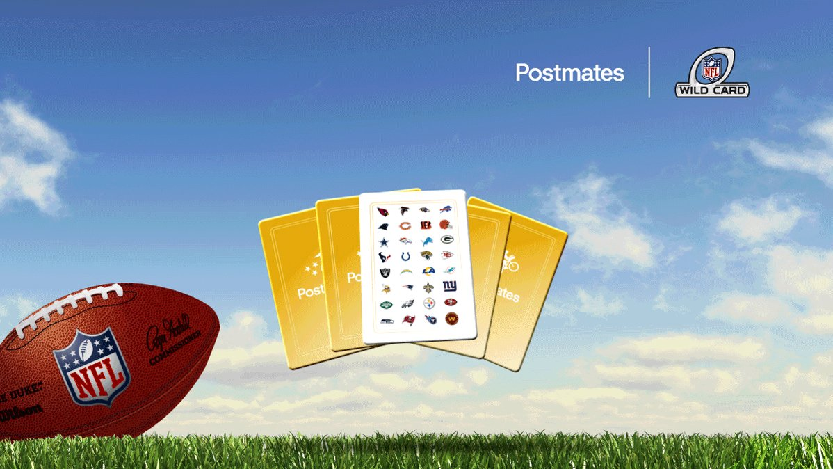 .@NFL #SuperWildCard is well...pretty wild. We're getting in on the action with a nail-biting game of our own. Open Postmates, pick a card, and see how much you'll save.