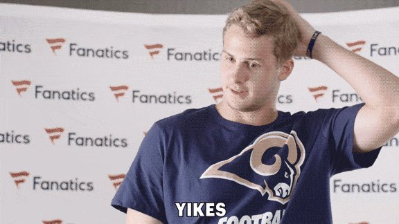 OH NO! The Rams lost their starting Quarterback... Guess they'll have to rely on their STARTING QUARTERBACK
