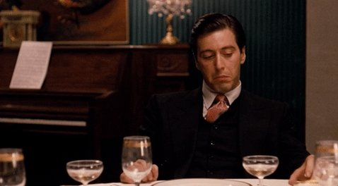 I've just finished watching 'The Godfather' for the FIRST time.   Why didn't I watch this sooner. Incredible. What a film.