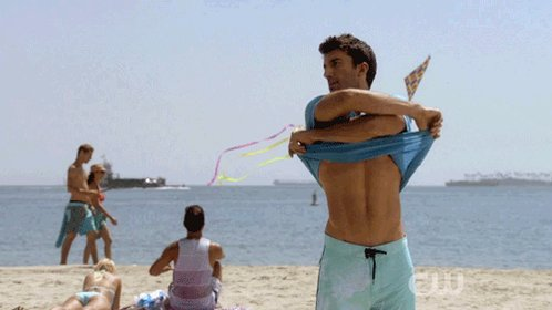 "This #ShakespeareSunday's theme: red, #blue & #yellow so...  'Come unto these yellow sands, And then take hands. Curtsied when you have and kissed The wild waves whist...'  Ariel's song, scene II, Act I ""The Tempest.""  #amwriting #inspiredby #JaneTheVirgin #Rafael #Jafael ⬇"