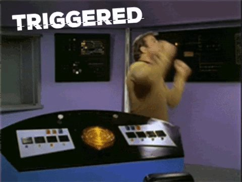 triggered captain kirk GIF