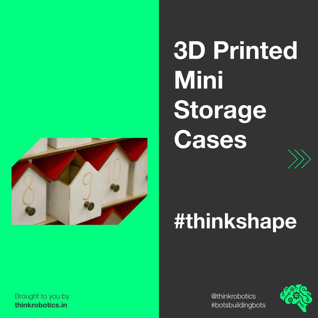 A storage case for your storage needs! Get it custom 3D Printed on   #thinkshape #3d #3dprint #maker #makers #product #productdesign #prototype #prototypes #prototyping #botsbuildingbots #thinkrobotics