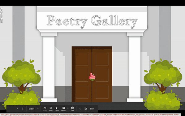 Interactive Poetry Gallery! Thank you, thank you @SlidesManiaSM #interactivefun