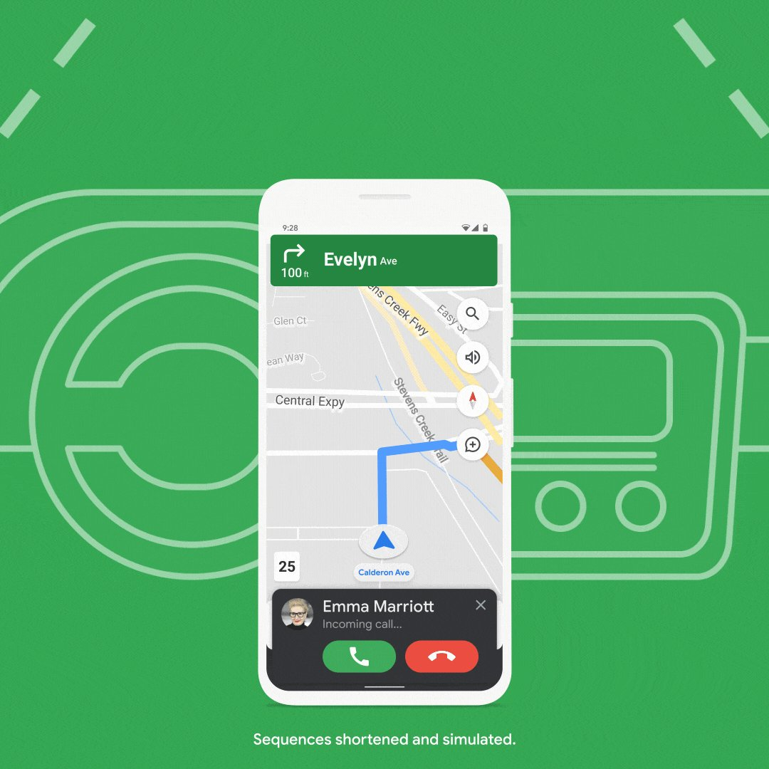 Now you can keep your focus on navigating while more easily answering calls and messages, without leaving Google Maps.  Try the new Google Assistant driving mode on Android in the US.  Learn more →