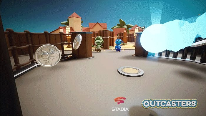 Trickshot your way to victory with the chaotic bullet-bouncing combat of Outcasters. Click to Play for free now—exclusively on #StadiaPro.