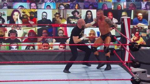 Replying to @WWE: HERE. WE. GO!  #WWERaw @TripleH @RandyOrton